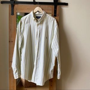 Polo by Ralph Lauren Yellow Striped Button Down